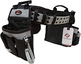 TradeGear PART#SZA Electrician's Belt & Bag Combo - Heavy Duty Electricians Tool Belt Designed for Maximum Comfort & Durability - Ideal for All Electricians Tools - Fits Sizes S - L (26