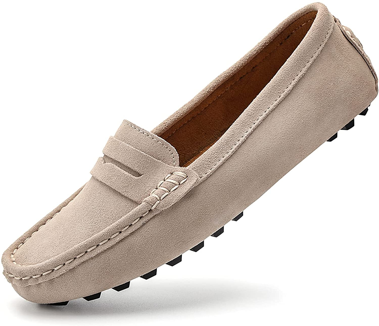 BEAUSEEN Opening large release sale Women's Comfortable Suede Slip-on Inventory cleanup selling sale Loafer Penny Leather