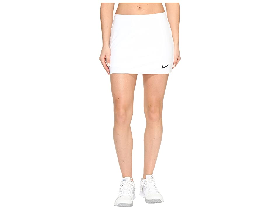 Nike Nike Court Power Spin Tennis Skirt (White/Black) Women