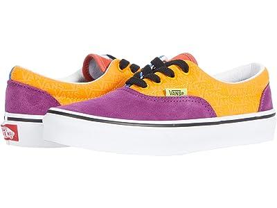 Vans Kids Era (Little Kid) ((Mix & Match) Grape Juice/Bright Marigold) Kids Shoes