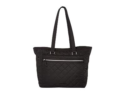 Vera Bradley Performance Twill Work Tote (Black) Tote Handbags