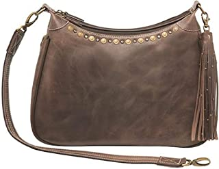 Concealed Carry Purse - Distressed Buffalo Hobo by Gun Tote'n Mamas