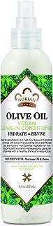 Nubian Heritage dejar en acondicionador para cabello seco, aceite de oliva sin aceite de oliva que nutre para cabello sano e hidratado, 7.5 oz
