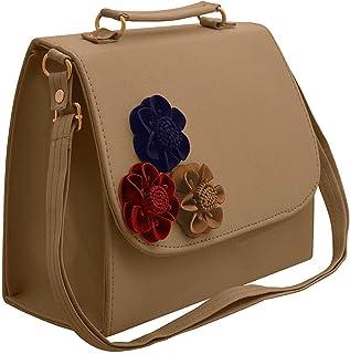 Maango Sitar Women's PU Leather Sling Bag (Cream)