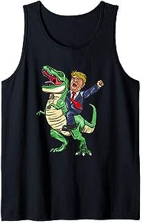 President Trump On T Rex Dinosaur For Freedom Tank Top