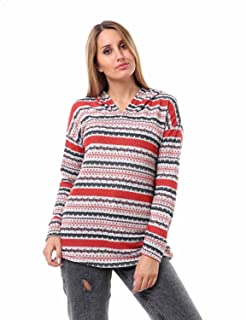 Andora Long Sleeves Side Pockets Patterned Hoodie for Women
