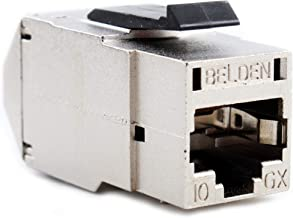 Belden RVAMJKSME-S1 Shielded Cat6A REVConnect Modular Jack, RJ45, 10GX, 10GXS, STP