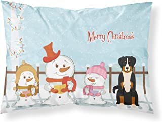 Caroline's Treasures BB2374PILLOWCASE Merry Christmas Carolers Appenzeller Sennenhund Fabric Pillowcase, Standard, Multicolor