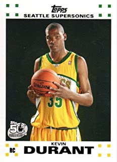 2007 08 Topps Kevin Durant Seattle Sonics Rookie NBA Basketball Card #2