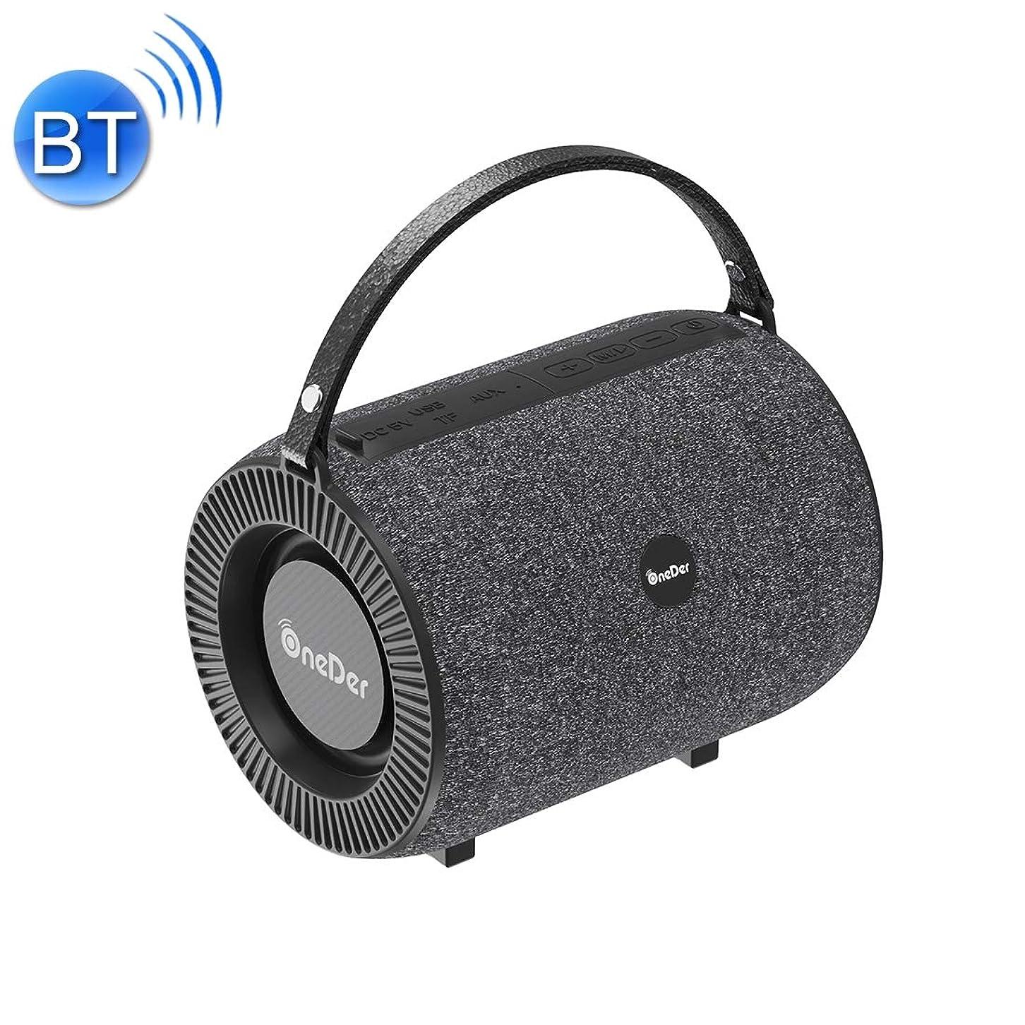 置くためにパック占める姿勢Eryanone サポートハンズフリー&FM&TFカード&AUX&USBドライブ(ブラック)新しい、V3屋外ハンドヘルド無線通信のBluetoothスピーカー新 (色 : Black)
