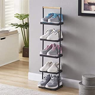 Furniture Cloakroom and Door (Gloss: Black)، للغرفة الباقية، يحمل ما يصل إلى 5 أزواج من الأحذية، 5 طبقات تخزين الأحذية منظ...