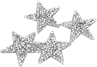 RD garden 10pcs Bling Bling Star Rhinestone Iron on Applique Patches Adhesive Stick Star Heat Transfer Garment Trimmings