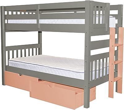 Amazon Com Walker Edison Solid Wood Twin Bunk Bed Espresso