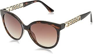 Guess Cat Eye Sunglasses for Women - Brown Mirror Lens, GU7570-52G