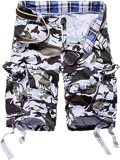 NMY Pantalones Cargo para Hombre, Hombre Pantalones Multibolsillos Militar Pantalones de la Manera