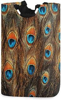 CaTaKu Panier à linge Motif paon avec imprimé animal de paon - Grande boîte de rangement imperméable et facile à transport...