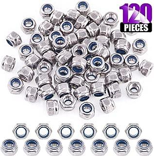Swpeet 120Pcs M3 304 Stainless Steel Metric Lock Nut Assortment Kit Perfect for lock Washers, Nylon Insert Locknut M3 M4 M5 M6 M8 M10 M12