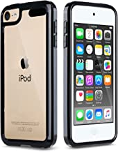 ULAK iPod Touch 7 Case,iPod Touch 6 & 5 Case, Clear Slim Hybrid Bumper TPU/Scratch Resistant Hard PC Back/Corner Shock Absorption Case for Apple iPod Touch 5th 6th 7th Generation, Black