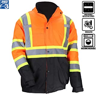 class 3 safety bomber jacket