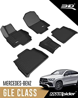 3D MAXpider Mercedes-Benz GLE-Class 5-Passenger 2020 2021 Custom Fit All-Weather Car Floor Mats Liners, Kagu Series (1st &...