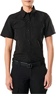 5.11 Tactical Women's Fast-Tac Short Sleeve Shirt, 100% Polyester, Water Resistant, Style 61314