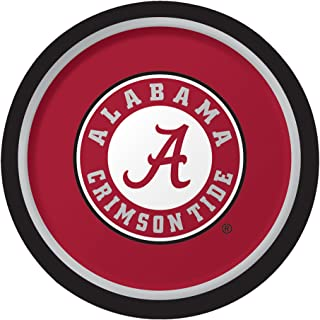 Creative Converting 8 Count Sturdy Style University of Alabama Paper Plates (Dinner Size), 8.75