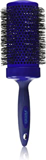 Spornette 3 1/2 Inch Long Smooth Operator Round Brush with Crimped Tourmaline Ionic Bristles & Capless Extended Ceramic Barrel #4477 for Blow Drying, Styling, Waving & Curling Long Hair