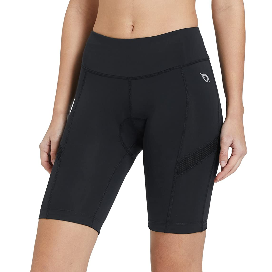 Baleaf Womens Biking Shorts with Padding Wide Waistband UPF 50+ for Cycling, Spinning, Road Bike