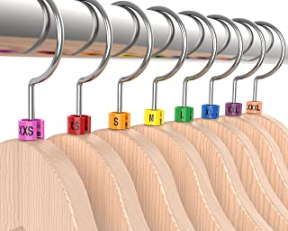 discount sizing Colored Hanger Sizer Garment Markers (Sizes: XXS-XXXL) Color Coded Size Clips - 100 Pieces/Size - 800 Pieces Total