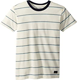 Die Cut Stripe Short Sleeve Crew T-Shirt (Big Kids)