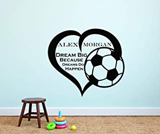 Shoot For Your Goals Soccer Wall Stickers Decals Chilren Room Decoration NWUS