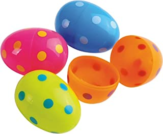 U.S. Toy Dozen Assorted Color Polka Dot Design Plastic Easter Eggs