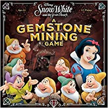 Disney Snow White and The Seven Dwarfs: A Gemstone Mining Competitive Strategy Press Your Luck Board Game | Disney Snow White Movie | Fun for The Whole Family Board Game!