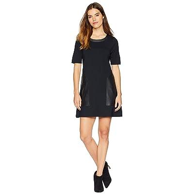 BCBGMAXAZRIA Pieced Shift Dress (Black) Women