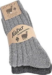 Alpaka Socken Wollsocken warme Socken Strümpfe in verschiedenen Varianten für Damen Herren 2 Paar
