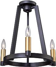 Artcraft Lighting Artcraft AC11123 トランジショナル3ライト セミフラッシュマウント Regent Collection ブラック仕上げ 16インチ 16.50x16.00インチ ブラック&サテン真鍮
