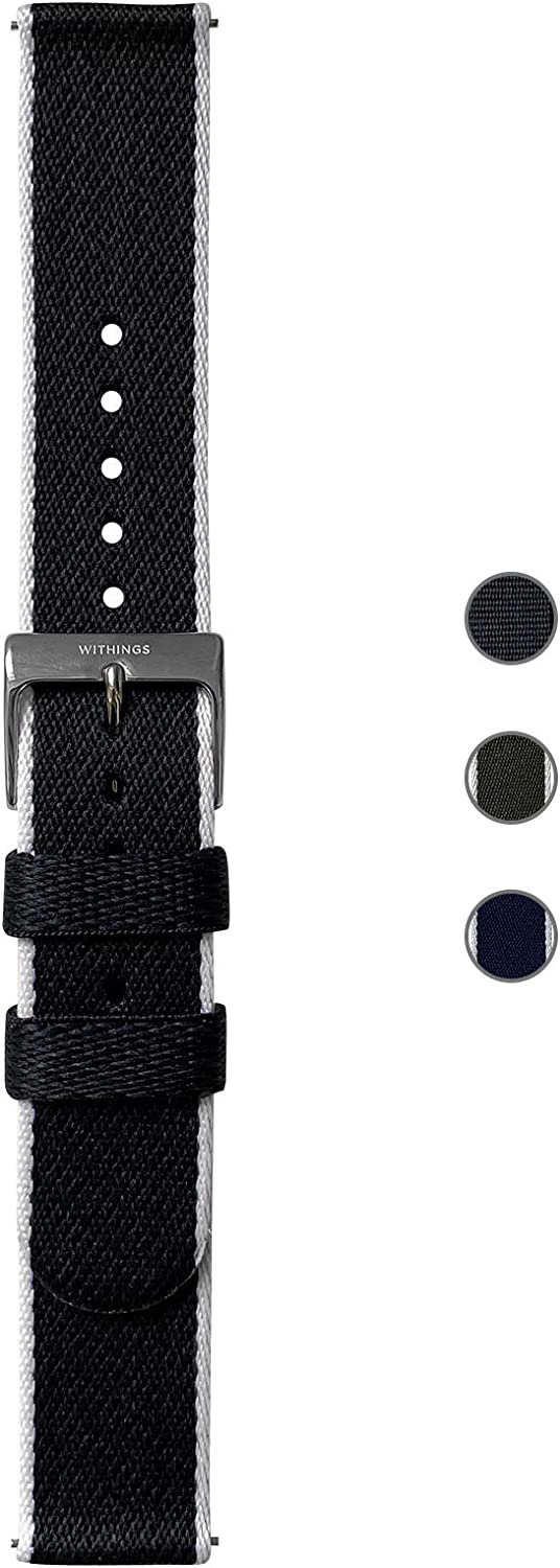 Withings Recycled Woven PET Wristbands for Steel HR, Steel HR Sport, Move ECG, Move, Steel, and ScanWatch