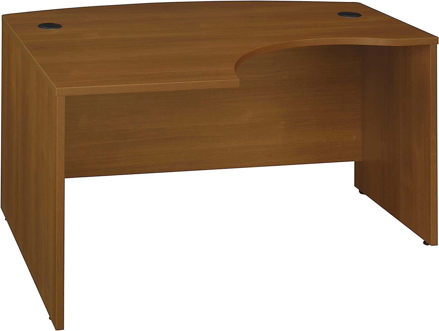 Bush Business Furniture Series C Collection 60W x 43D Left Hand L-Bow Desk Shell in Warm Oak