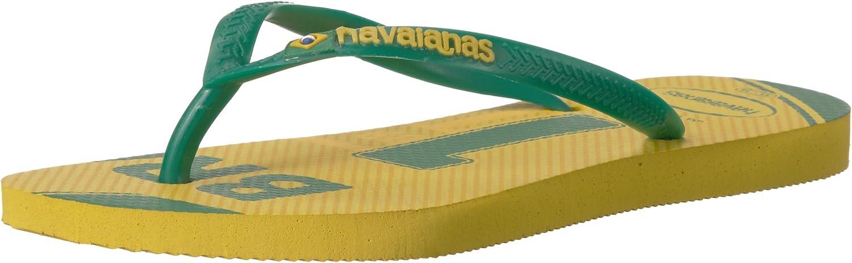 Havaianas Women's Slim Teams-Brazil Sandal Citrus Yellow