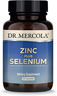 Dr. Mercola Zinc Plus Selenium Dietary Supplement, 30 Servings (30 Capsules), Supports Immune Health, Non GMO, Soy Free, G...
