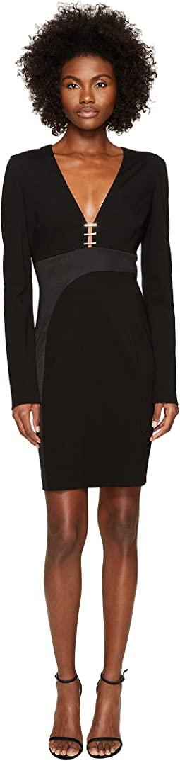 Versace Collection - Long Sleeve V-Neck Dress