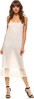 Melody Women's Adjustable Knit Layering Full Slip with Lace Extender
