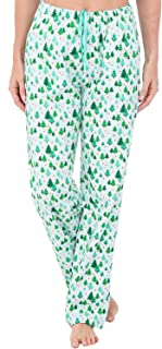 Women's Flannel Pajama Pants, Long Winter Christmas Cotton Pj Bottoms
