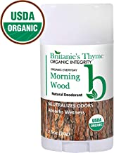 Organic Natural Deodorant - USDA Certified Organic, Certified Gluten Free, Vegan, Cruelty Free for Men & Women (Morning Wood)