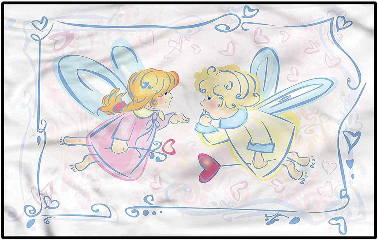 Princess Home Decor Rugs Fairytale OFFer Kids for Characters Heart Tee Ranking TOP10