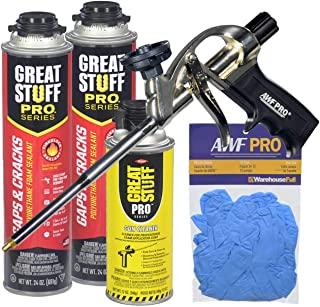 Dow Great Stuff Pro Gaps and Cracks Foam Sealant Kit with Foam Gun and Gloves