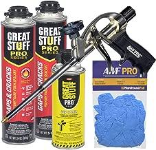 Dow Great Stuff Gaps & Cracks Foam Sealant Kit with AWF Pro Foam Gun, Great Stuff Foam Cleaner and Gloves