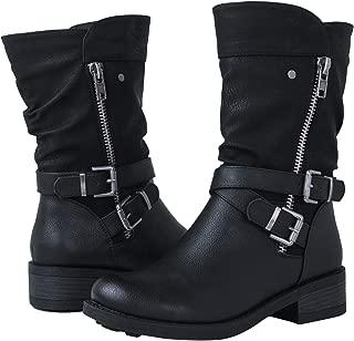 wide calf biker boots
