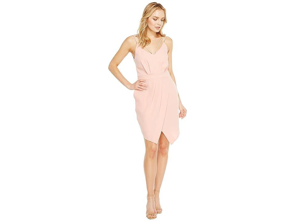 Adelyn Rae Noemi V-Neck Sheath Dress (Pink Sand) Women