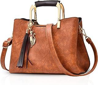 NICOLE&DORIS Women Top Handle Handbags Elegant Shoulder Bag Fashion Crossbody Bag Tote Satchel for Ladies PU Leather Messe...